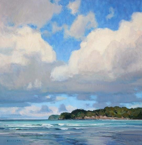 Josh Elliott Clouds Over the South Pacific, Matapouri by Josh Elliott Oil ~ 20 x 20