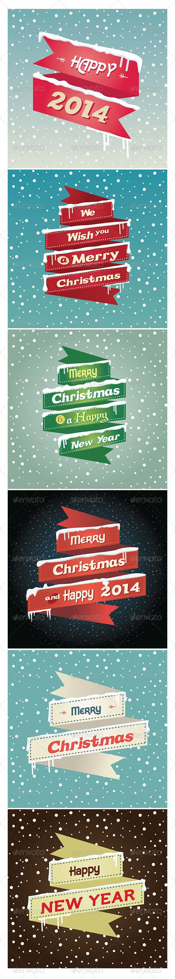 Flat Robbons Christmas and Happy New Year 2014