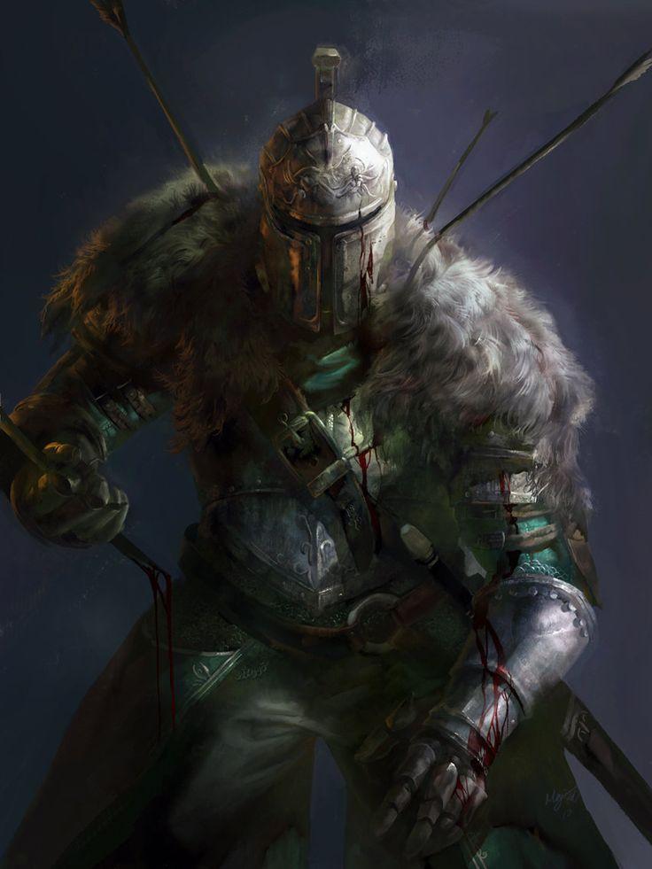 Dark Souls 2 Caballero (Luces y sangre brutales)