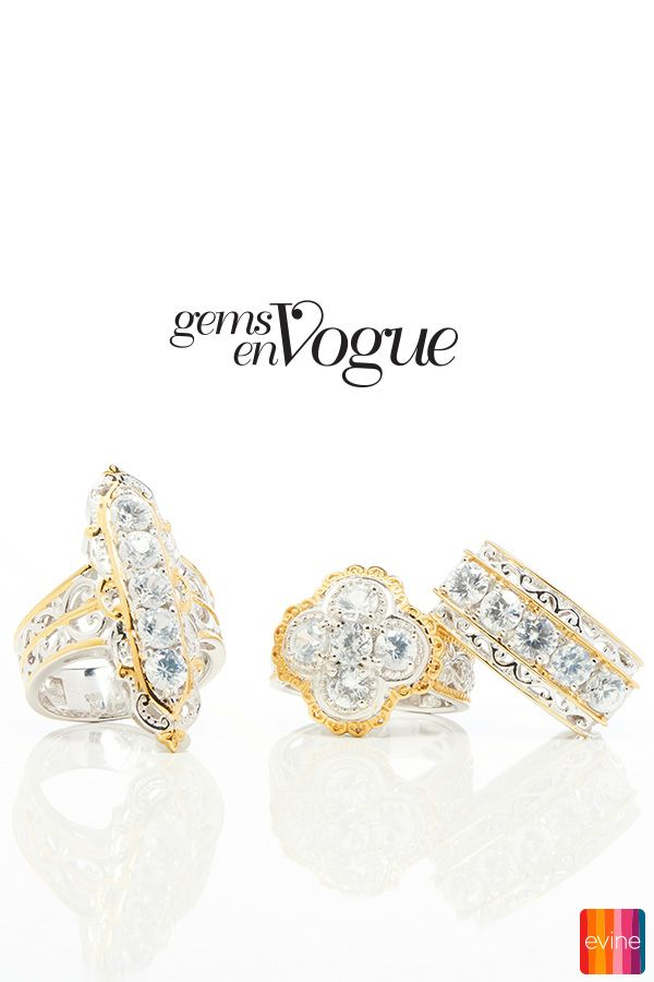 Be the talk of the party with this stunning ring on your finger! The intricate design makes this ring from Gems en Vogue stand out. Treat yourself or pick it up to gift the perfect present.