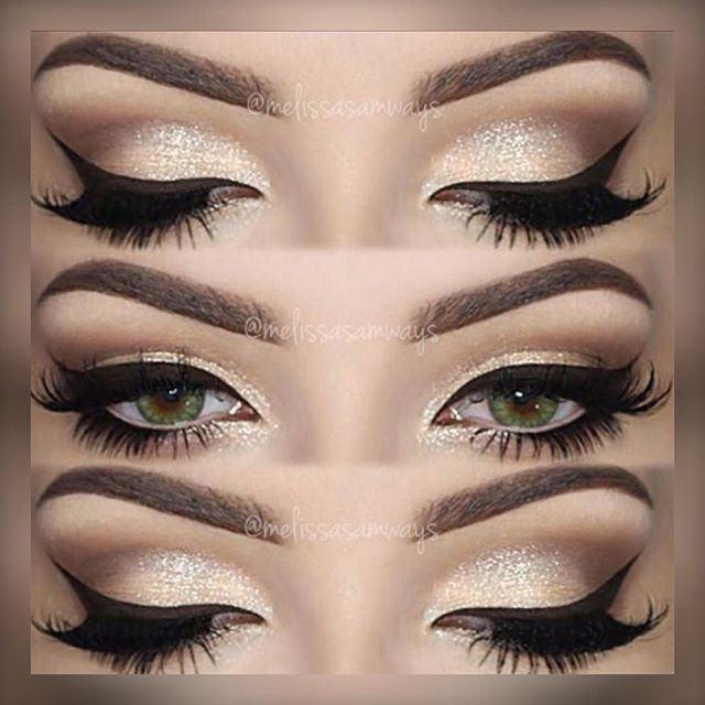 "#Repost @melissasamways    Hey Loves! Champagne Smokey Eye Makeup  TUTORIAL  Link in my Bio!  Products Used   Eyebrows Essential Brow Kit @motivescosmetics  Gel Eyeliner Stunninglyladylike Eyeshadow Base and Brilliant & Spellbinding Palette @sigmabeauty (use the code MELISSASB for 10% off)  Eyelashes ""Whispie Me Away"" @velourlashesofficial (use the code MELVELOUR for $$$ off)  Contact Lenses Forest Green @desioeyes Olá amores! Champagne Smokey Eye Makeup   O TUTORIAL desta maquiagem está no…"