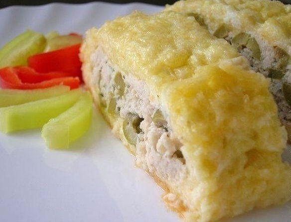 Рулет из сыра и куриного филе