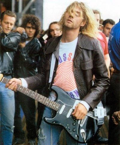 Cobain, black Strat