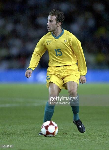 Marco Bresciano of Australia in action during the Group A Men's Football match between Australia and Honduras on Day Four of the Sydney 2000 Olympic...