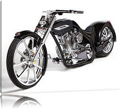 American Chopper Cadillac Bike on Canvas, XXL Pictures completely framed with large wedge frames, wall picture art print with frame, cheaper than painting or picture, no posters or poster, Leinwand Format:120x80 cm