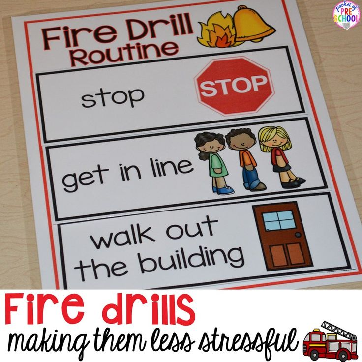strategies to make fire drills less stressful and scary for kids in your early…