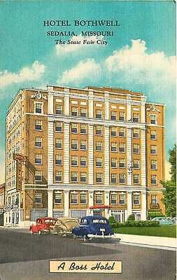 Sedalia Missouri Mo 1950 Hotel Bothwell Antique Vintage Advertising Postcard