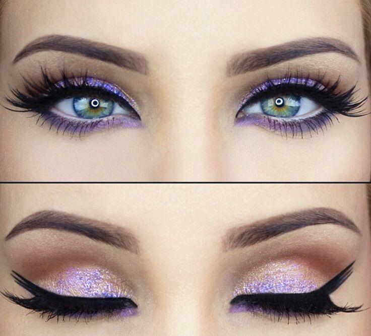 Beautiful purple and gold eyes