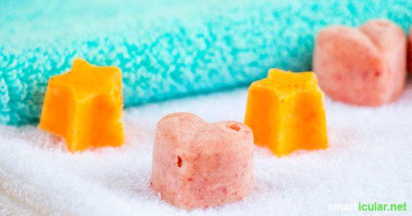 Natürliche Badepralinen aus wenigen Zutaten einfach selber machen