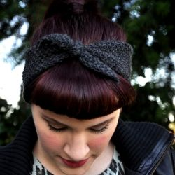tied headband - no pattern - thin yarn?