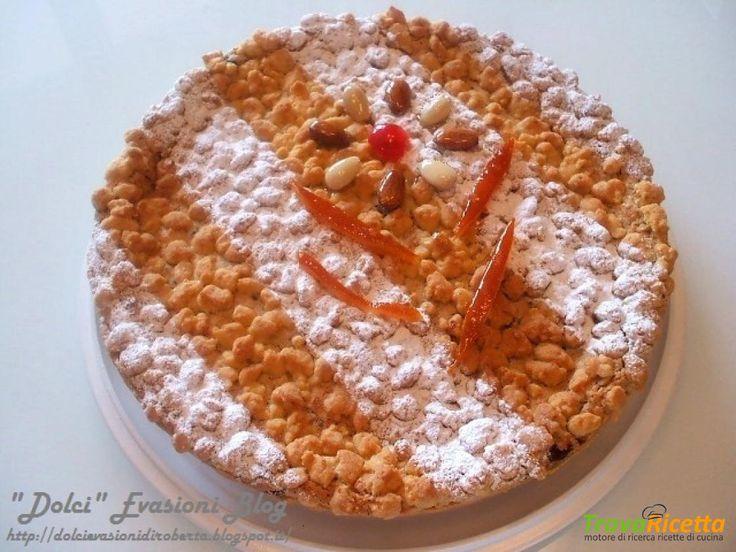 Crostata Riccia alla Ricotta e Amaretti  #ricette #food #recipes