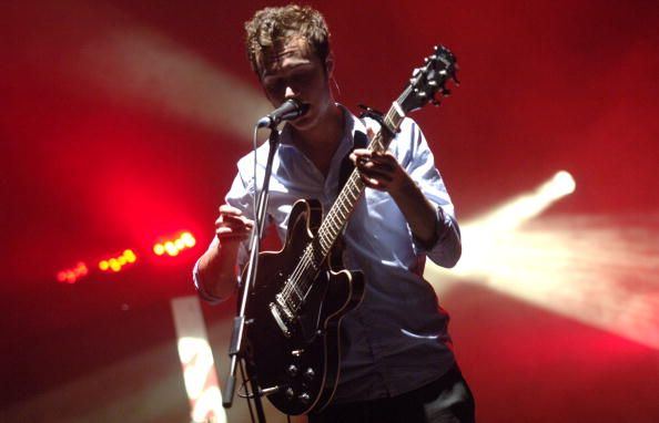 Tom Smith and The Editors perform in support of the bands 'An End Has a Start ' release at the Warfield on February 8 2008 in San Francisco California