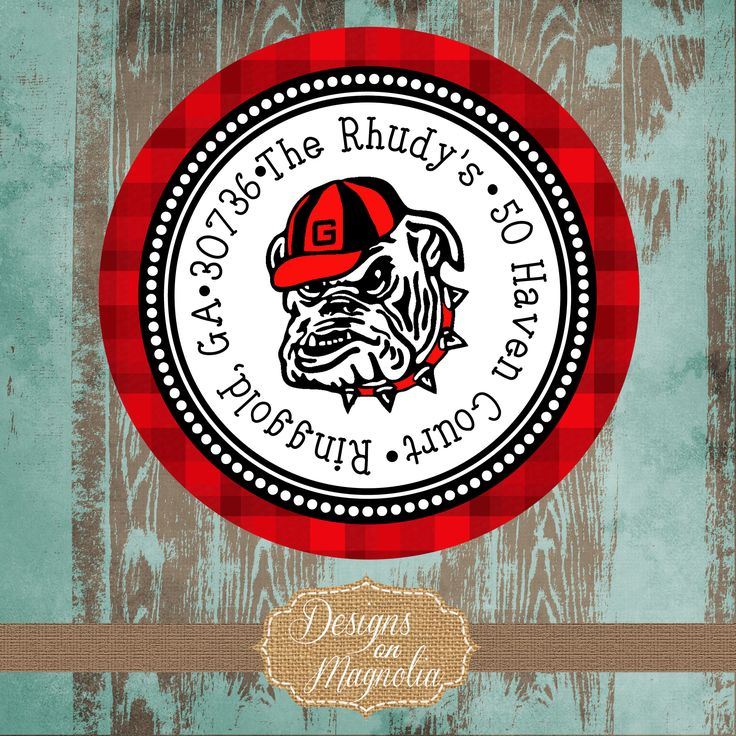 UGA Address Labels on my Etsy Shop at Designsonmagnolia.com
