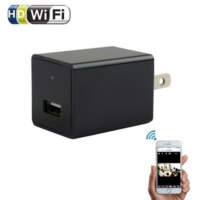 Wifi Wall Charger Hidden Spy Camera - ENKLOV 1080P HD USB AC Wall Plug Adapter Camera with Motion Detection , P2P Wireless Wifi Digita Video Recorder for IOS iPhone Android Phone APP Remote View