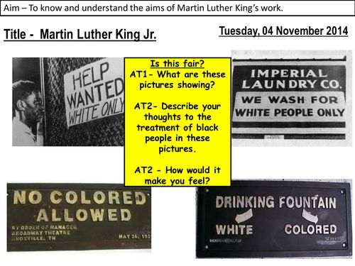 Gcse history coursework martin luther king blacks