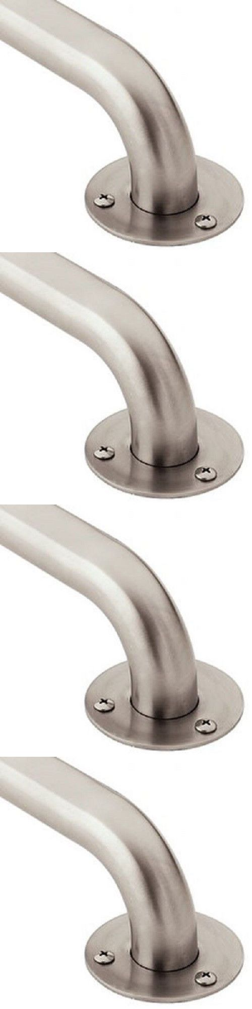 Other Accessibility Fixtures: Moen Stainless Steel Ss Bathroom Safety Grab Bars 12 18 24 36 42 Inch BUY IT NOW ONLY: $32.73