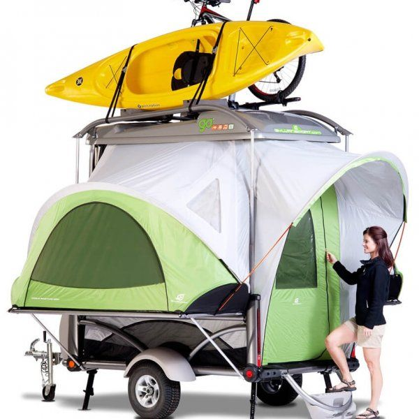 Go-lightweight-pop-up-camper by Sylvan Sport...these are really simple but kinda cool