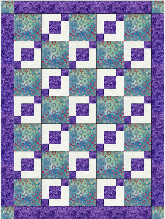 Quilt Patterns With 3 Fabrics : 1000+ images about Quilts on Pinterest