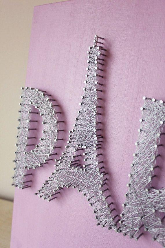 Paris Wall Decor String Art Eiffel Tower Gift For Her por mintiwall