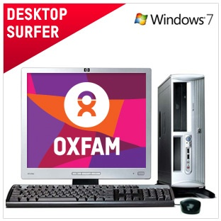 Desktop Surfer - €120 / £99  This computer has been refurbished to the highest standard. Ideal for Internet and general use including Facebook, Youtube and emails. Fully operational and functions as intended. Comes with 6 month warranty.  And by buying this computer you're helping to raise vital funds for our work around the world.   Full spec and more info here: https://www.oxfamireland.org/computers/desktop-surfer