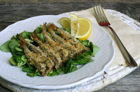"""Le Alici impanate al forno o """"sardoncini scottadito"""" sono semplici ed economiche. Un piatto salutare che piace a grandi e piccini.Unite insalata,limone e..."""