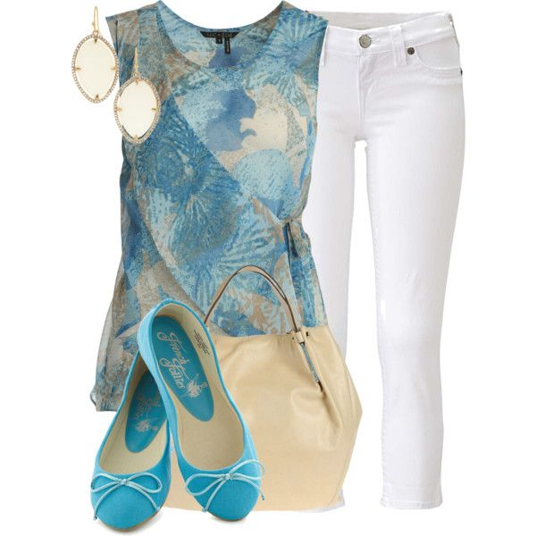 White Pants by colierollers on Polyvore