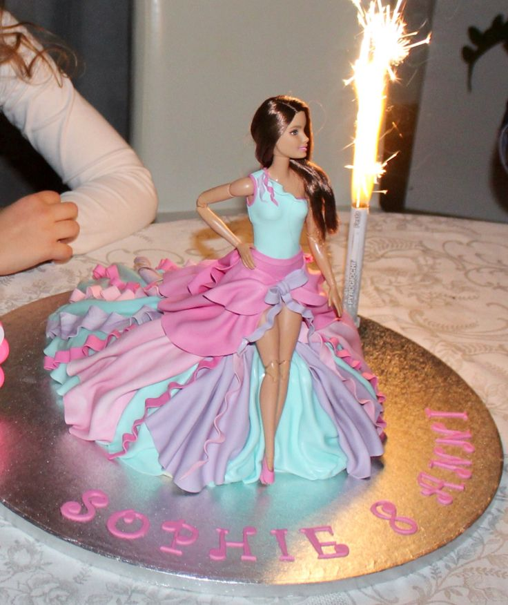 Barbie cake                                                                                                                                                                                 More