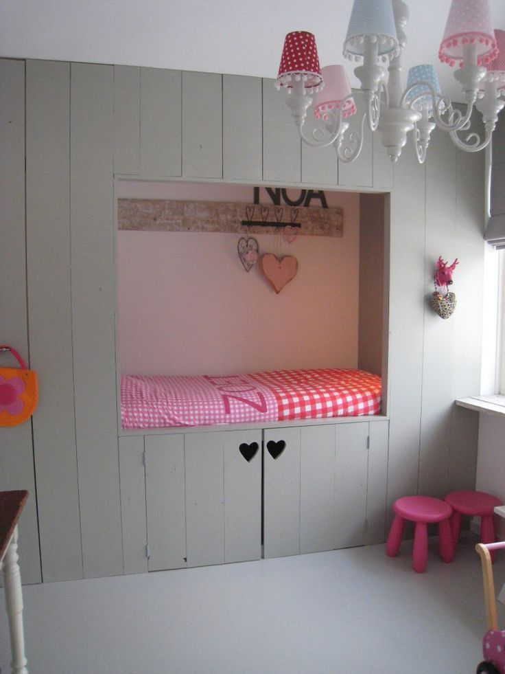 Love! could totally do this with closet- just seamlessly panel the walls and add storage doors underneath bed in closet!