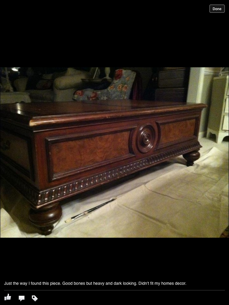 Before Of An Ethan Allen Table I Purchased From A Thrift Store For 99.00,,. Ethan  AllenFurniture RefinishingThrift ...