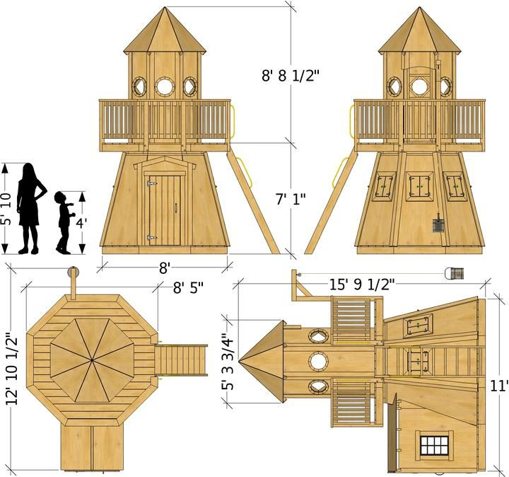 Little Lighthouse Plan Play Houses Build A Playhouse Building A Shed