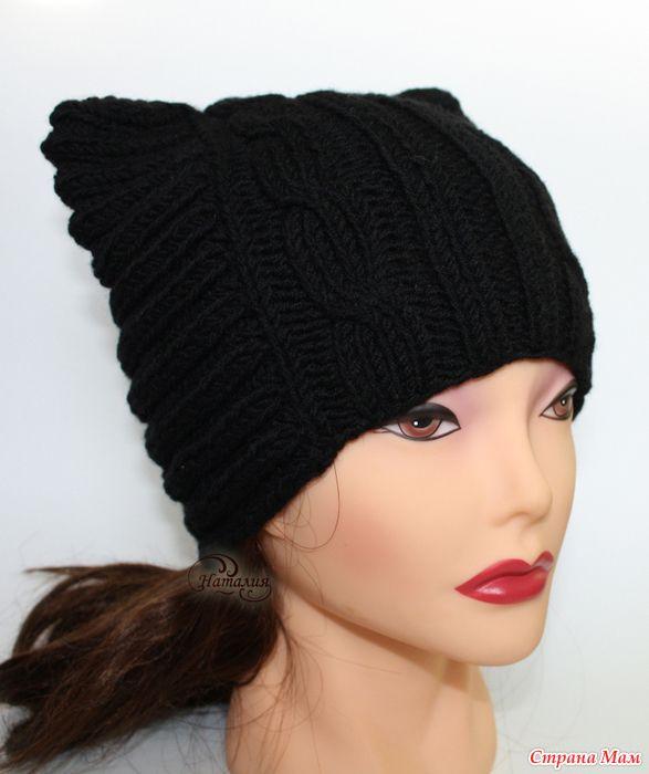 Кото-шапка для девушки