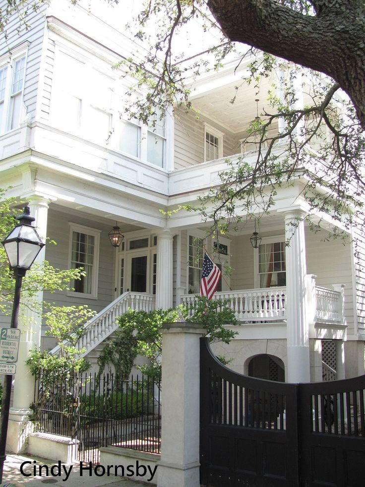 Charleston Greek Revival Romantic Pinterest