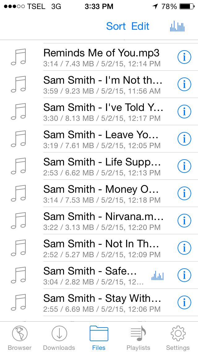 My Song list for today ~ Sam Smith  All about you.