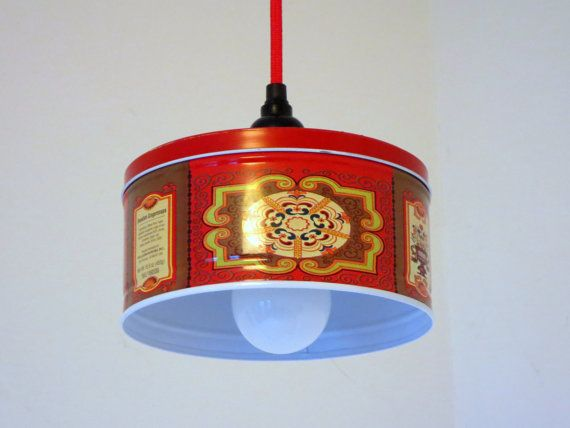 gingersnaps tin plug in pendant light by 4flighting on etsy