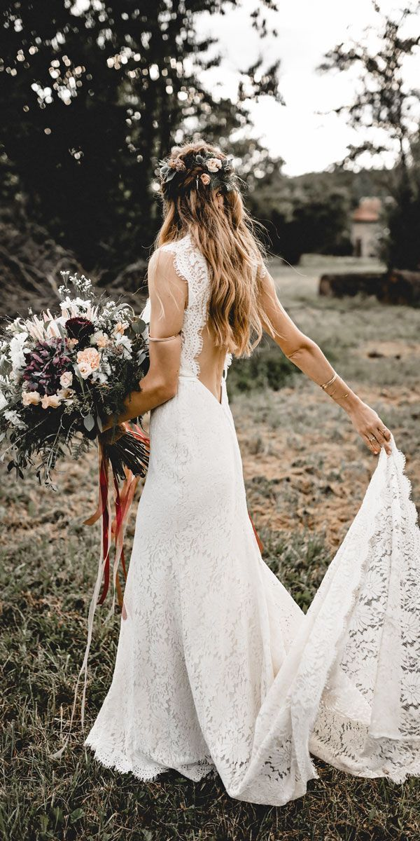 Bridal Inspiration: 27 Rustic Wedding Dresses ❤ See more: http://www.weddingforward.com/rustic-wedding-dresses/ #weddings