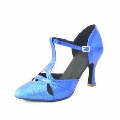 De mujer Brillo Chispeante Tacones Salón Danza latina con Tira T Zapatos de danza