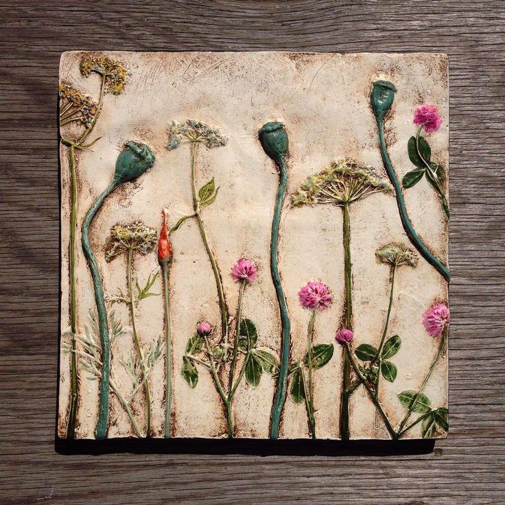 Купить Полевые цветы. Настенное панно. - полевые цветы, настенное панно, Картины и панно
