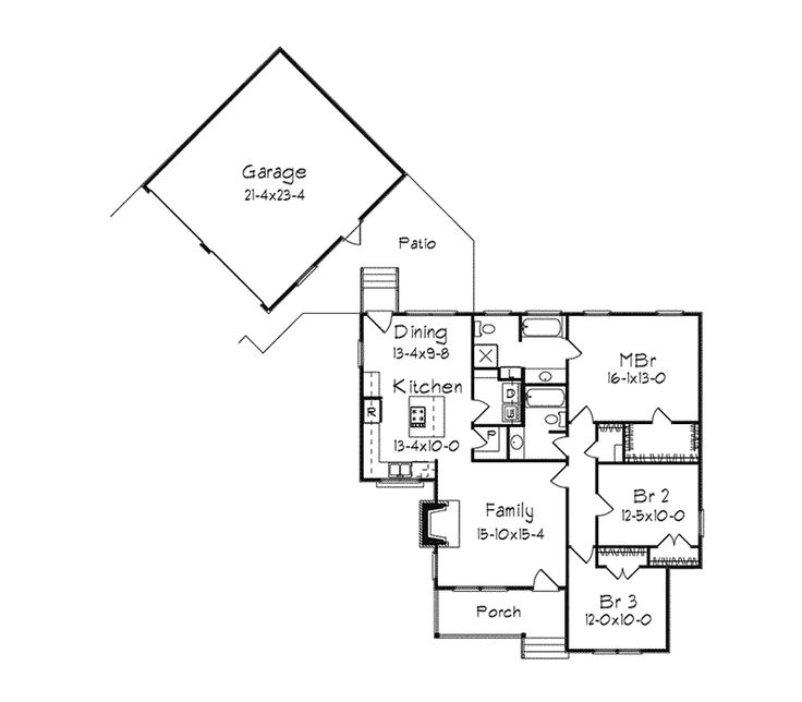 westrose country ranch home - Cylinder Home Floor Plans