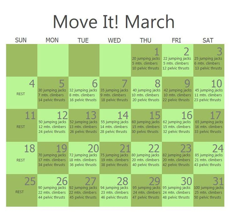 March Workout This Would Be A Great Way To Start The Day March Workout Workout Challenge Month Workout