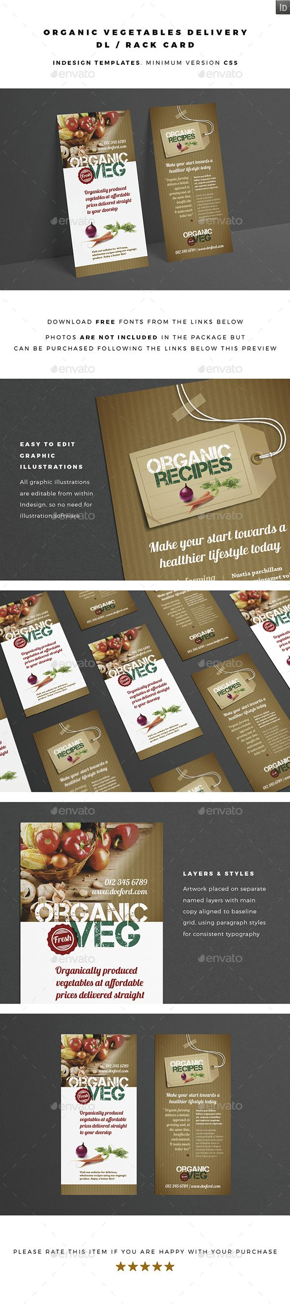 DL / Rack Card - Organic Vegetables Delivery