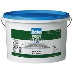 Herbol Profi Din Weiss is een matte, licht afneembare, elastische, super dekkende muurverf voor binnengebruik.