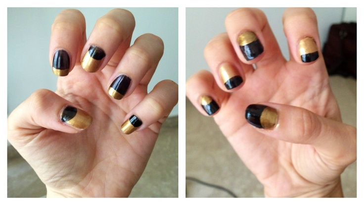 Double French black and gold made by me