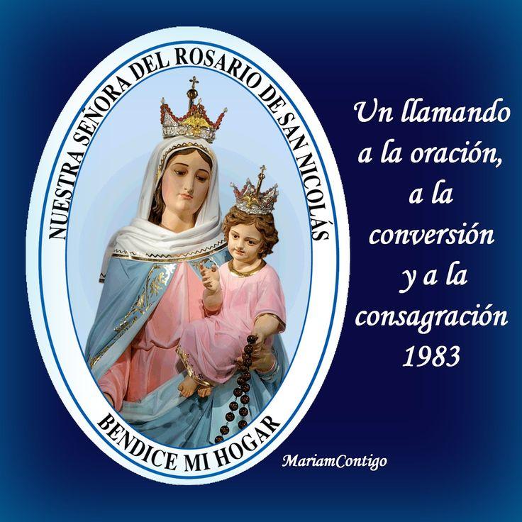 """PARA EL ANGUSTIADO, PARA RECHAZAR AL MALIGNO Y DESECHAR LO MALO   A María del Rosario de San Nicolás   La Virgen dice: """"El que reza es..."""