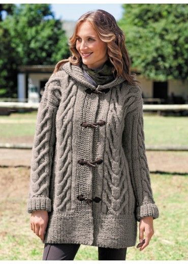 Cat. 14/15 - n° 853 Hooded coat | Buy, yarn, buy yarn online, online, wool, knitting, crochet | Buy Online