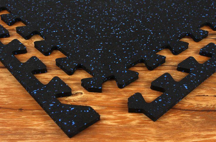 Sport-Lock Tile - Easy Install Interlocking Rubber Tile