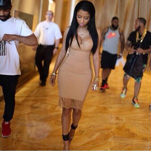 Nicki Minaj....she looks a lot better with the black hair.