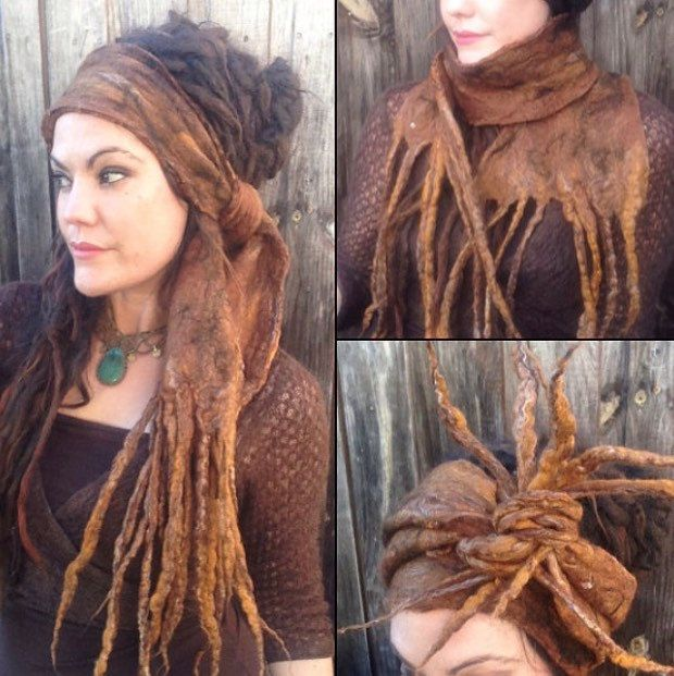 De 'El Dorado' Gevilte Dread Wrap Festival kleding Gypsy