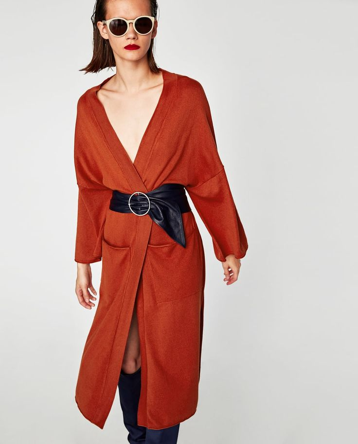 LONG KIMONO CARDIGAN-KNITWEAR-WOMAN-SALE | ZARA United Kingdom