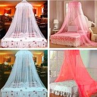 Wish | 60*250*850cm 8 Colors Round Dome Lace Insect Bed Canopy Netting Curtain Mosquito Net New House Bedding Deco