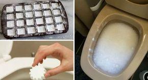 WC pulito e igienizzato con bombe pulizia fai da te toilette